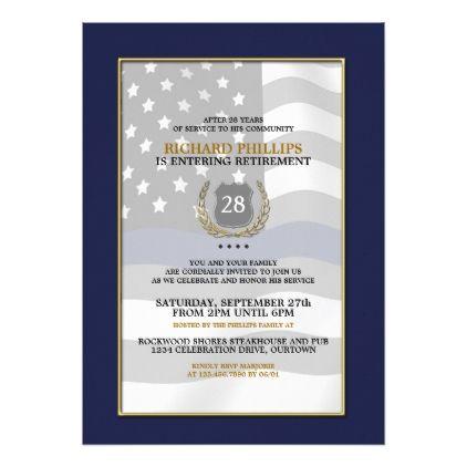 retirement party invitation card