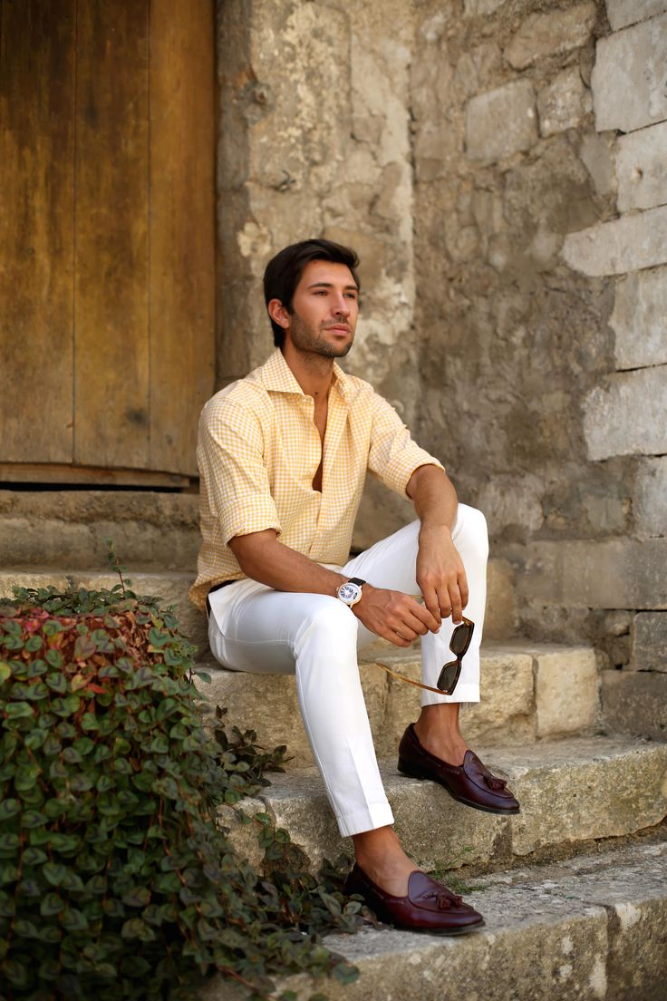 How to wear men's white pants avoiding mistakes