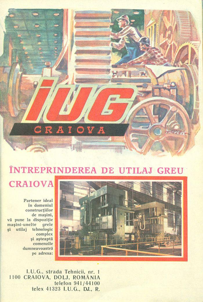 Reclama Intreprinderea de Utilaj Greu Craiova - #retro #advertising #romania #craiova
