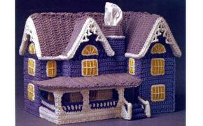 Руководство по вязанию крючком подставки для салфеток «Дом в викторианском стиле»