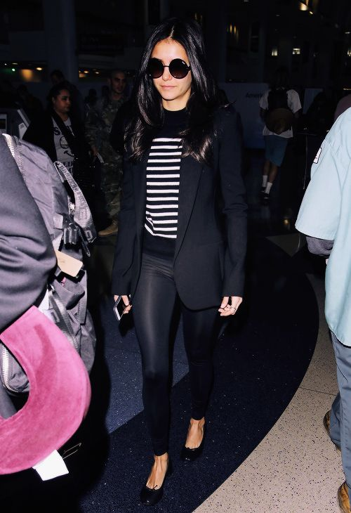 Nina Dobrev arriving at LAX Airport in Los Angeles // January 4, 2017
