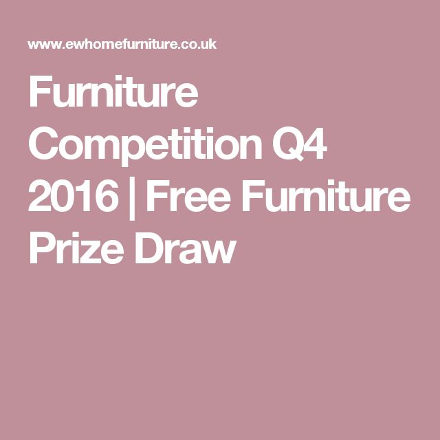 Furniture Competition Q4 2016 | Free Furniture Prize Draw