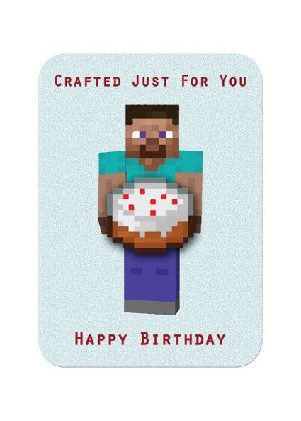 Juicy image with regard to printable minecraft birthday cards