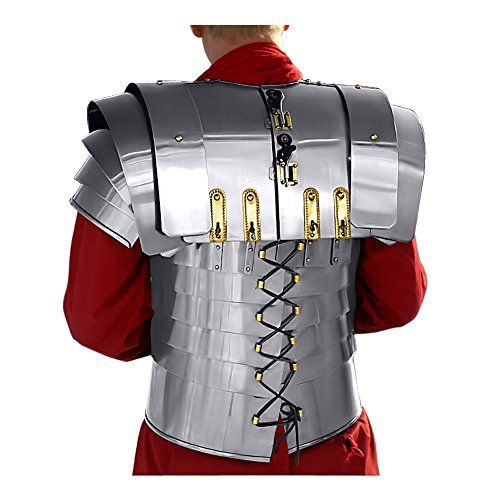 """Buy Lorica Segmentata Roman Armor for Costumes by Windlass Steelcrafts  **    Made of 18 gauge steel Features steel hooks to hold up torso Fits chest sizes up to 46"""" Accurate design modeled after a type excavated in Scotland** **    Great for LARP (live action role playing), kids, cosplay, Halloween, fancy dress, theatrical props, and historical reenactments.** **    All Armor products are made from the finest materials with an attention to providing intricate details in each piece…"""
