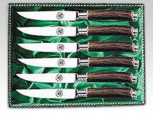 Jagd Besteck- 6 Messer Steakbesteck