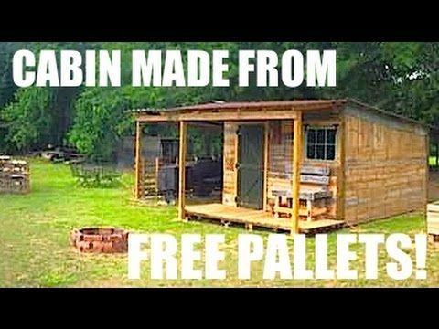 ▶ This Tiny House/Cabin was made from FREE Pallets! - YouTube