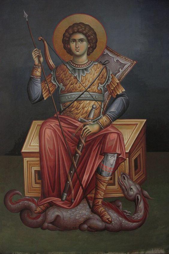 Ο Άγιος Γεώργιος.