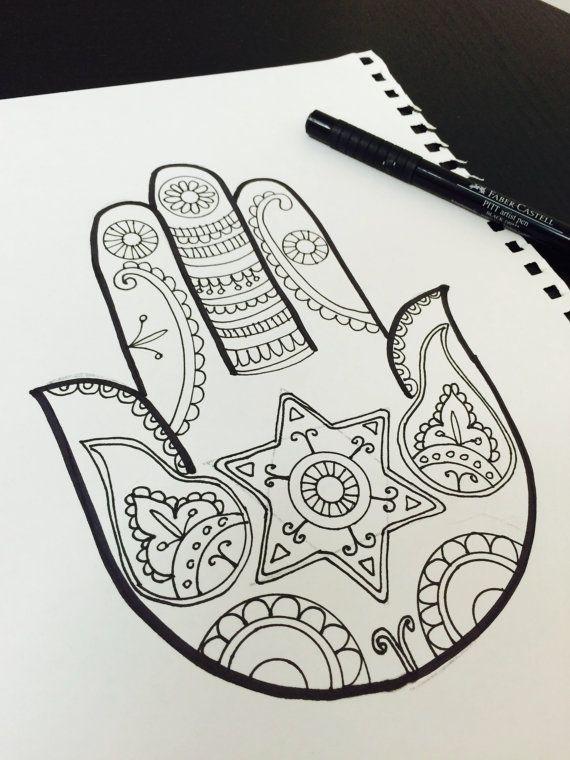 Best 20 hamsa design ideas on pinterest hamsa tattoo for Hanukkah crafts for adults