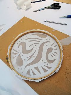 There's a Dragon in my Art Room: Easy-peasy screen printing activity