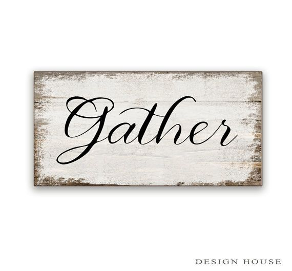Gather wooden box sign made with oak wood. Sides are natural oak. 10x5x2 Nice heavy little sign. Art is applied to wood then sealed and then sealed again with a water based polyurethane for protection.