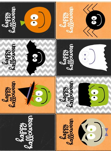 Free Printable Halloween Labels by @Catherine Auger