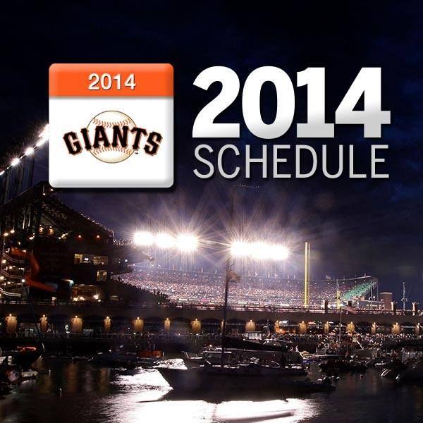 San Francisco Giants 2014 Schedule