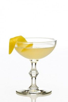 The Bee's Knees- 1920's cocktail - a drink from the Prohibition era of gin with lemon, honey, & a touch of Fernet