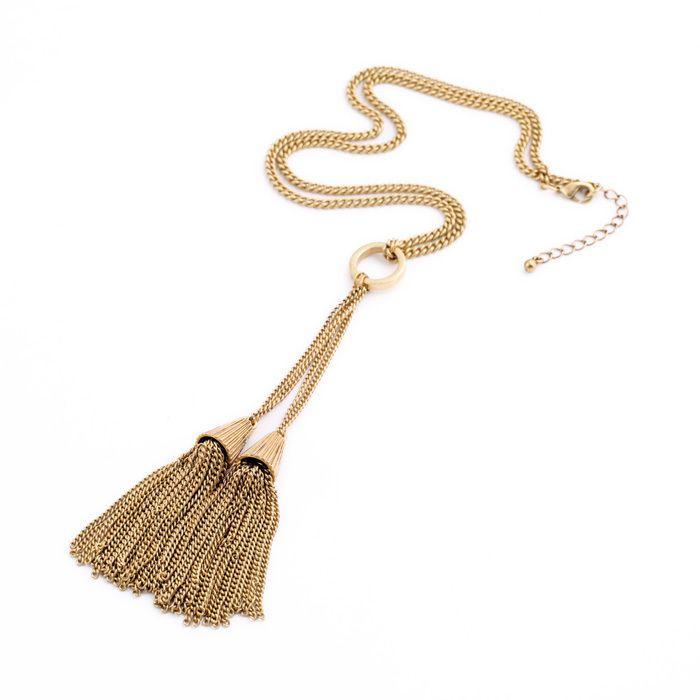 Персонализированные двойной кисточкой кулон мода ожерелье женщины аксессуары ожерелье ювелирные изделия от дизайнеров купить на AliExpress