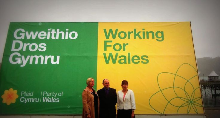 Campaign for Plaid Cymru on the Ad Van by S3 Advertising.