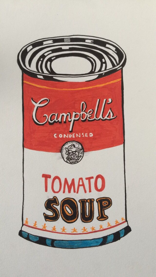 Campbell's Tomato Soup Andy Warhol (by Fanny Rocco)