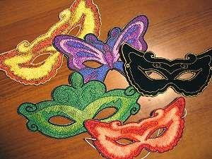 Advanced Embroidery Designs. Masquerade Masks