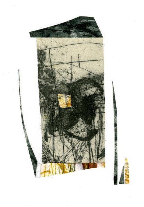 """Greyhouse, intaglio by Masha Ryskin, 14""""x11"""""""