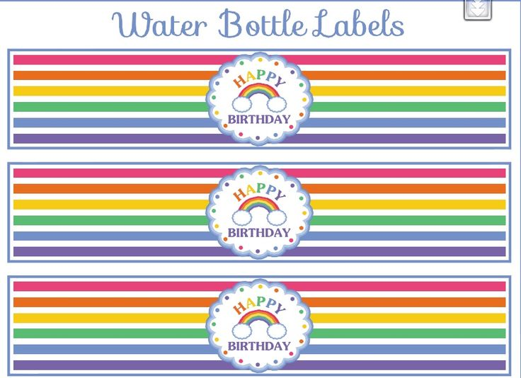 rainbow theme printable  u2013 mineral water