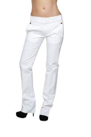 Roberto Cavalli - Women's Straight Trousers White, 50, White Roberto Cavalli. $144.50