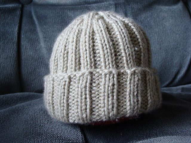 ribbed knit baby hat knit Pinterest
