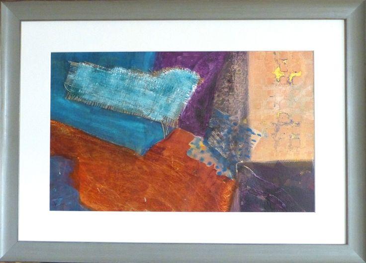 """Mystique"", Oils with burlap, 18"" x 12"", $400.00, Framed"