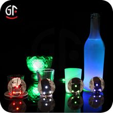 2016 Factory Wholesale LED Flash Round Coaster For Bottle Glow Glorifier - search result, Shenzhen Great-Favonian Electronics Co., Ltd.
