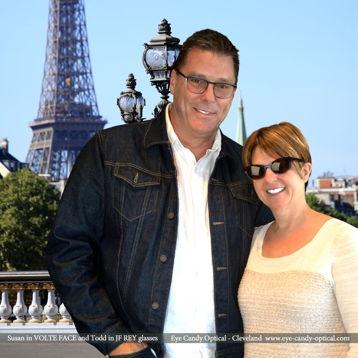 Susan in her designer Volte Face and Todd in his cool J.F. Rey Eyewear Design glasses are true lovers of French fashion. Eye Candy – Your romantic connection to the finest European Eyewear Fashion! Eye Candy Optical Cleveland – The Best Glasses Store! (440) 250-9191 - Book an Eye Exam Online or Over the Phone www.eye-candy-optical.com