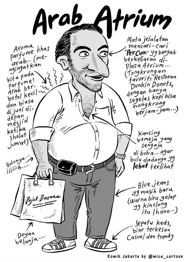 Mice Cartoon, 100 Tokoh Mewarnai Jakarta - 2008: Arab Atrium