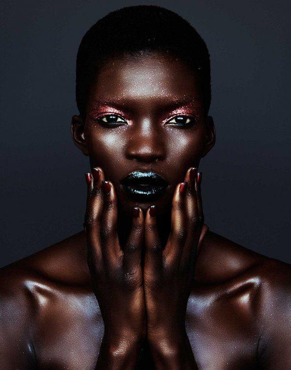 Achok Majak, Samantha Wolov, Velour Magazine, Black