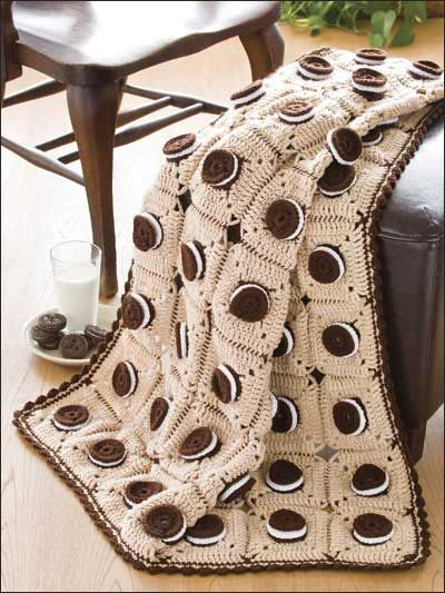 A crochet blankie that looks good enough to eat I wish I had the patience to make one!!!