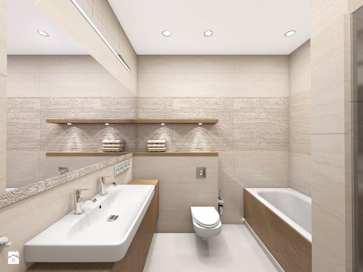 projekty - Mała łazienka w bloku bez okna, styl klasyczny - zdjęcie od marina suchorska architektura wnętrz