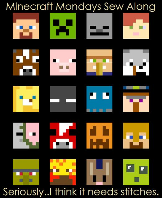 Free Minecraft Quilt Pattern                                                                                                                                                                                 More