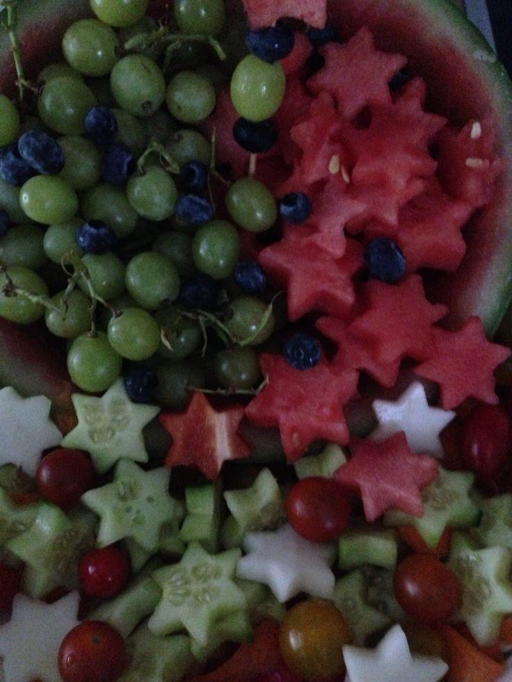 Obst- & Gemüseplatte für Kindergartenfest