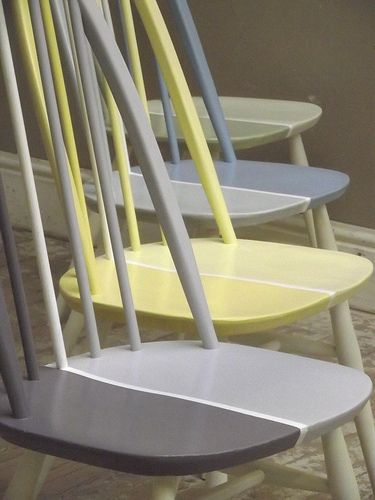 Bright Ercol Mid Century Vintage Dining Chairs | Flickr - Photo Sharing!