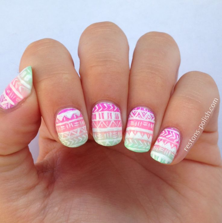image nail art été | aztec-nails1.jpg