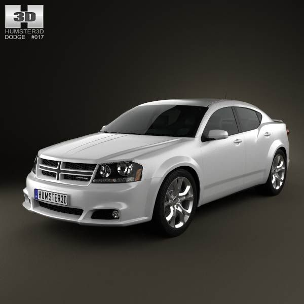 Dodge Avenger RT 2012 3d model from humster3d.com. Price: $75