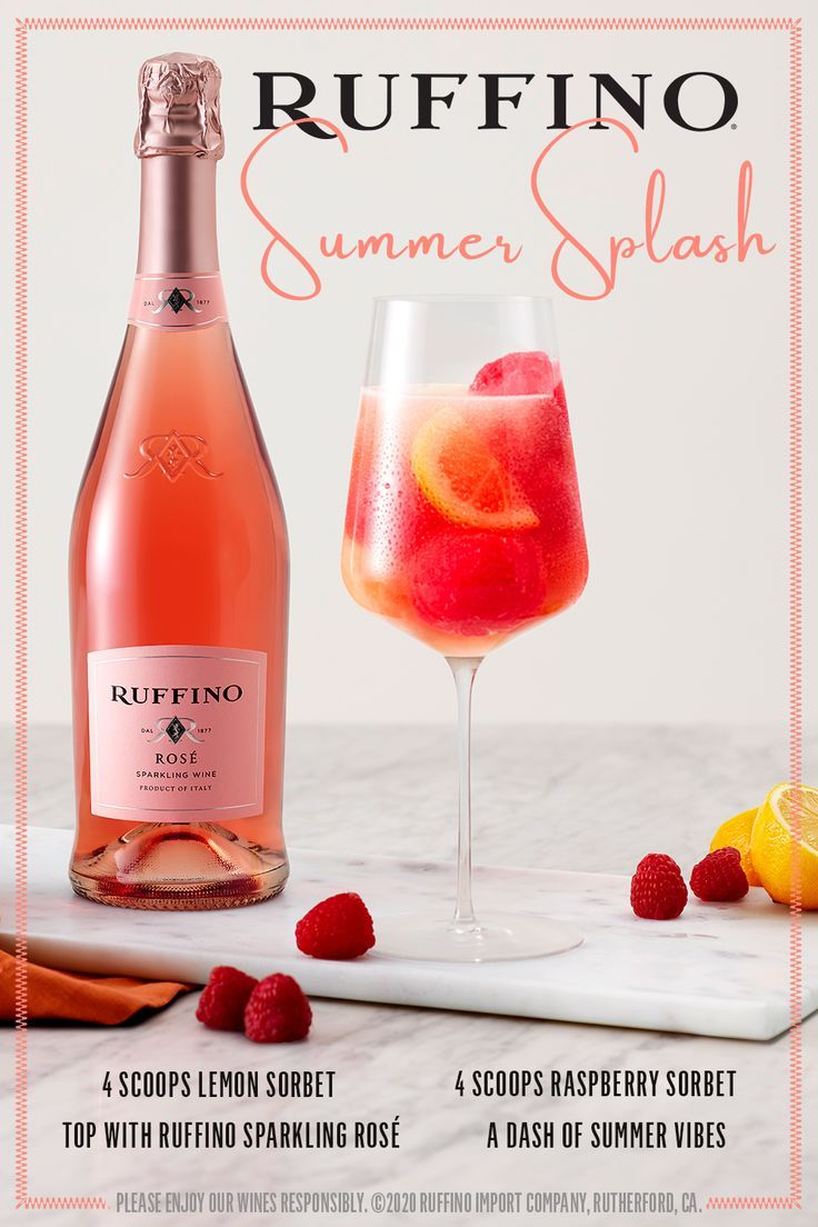 Ruffino Rosa C Float In 2020 Refreshing Cocktail Recipe Halloween Drinks Champagne Drinks Party