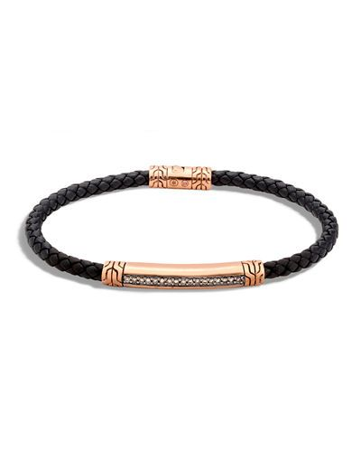 John+Hardy+Men's+4mm+Bronze+Classic+Chain+Lava+Station+Bracelet+with+Diamonds+|+Jewelry+and+Accessory