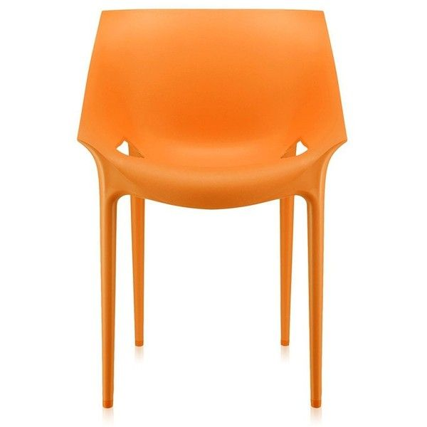 Kartell Dr. Yes Chair - Orange ($145) ❤ liked on Polyvore featuring home, furniture, chairs, orange outdoor furniture, orange furniture, plastic outdoor chairs, outside chairs and kartell furniture
