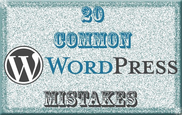 Everyone learns from previous mistakes. Sometimes people learn from sharing of other's mistakes too. 20 most common WordPress mistakes done by many blogger.