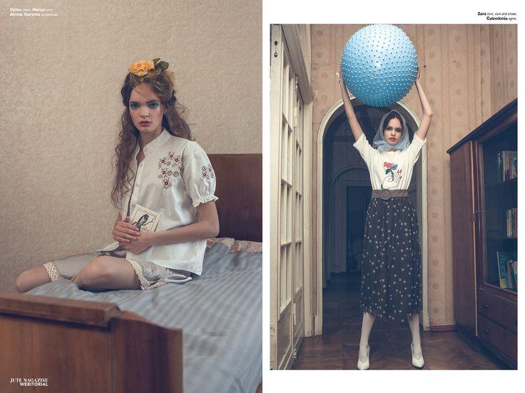 JUTEMAGAZINE photographer: Evgenya Kayumova  stylist: Olga Alt  makeup: Zlata Lyaeva  model: Uliana @ FL Models