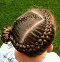 Swirly Dutch braids into side messy bun