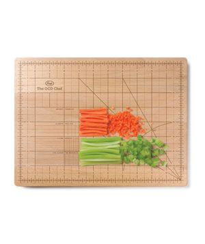 The OCD Cutting Board--for the perfectionist who needs everything just right--$28: Cutting Boards, Chef Cut, Gifts Ideas, Cut Boards, Ocd Chef, Obsession Chef, Holidays Gifts, Ocd Cut, Gifts For Foodies