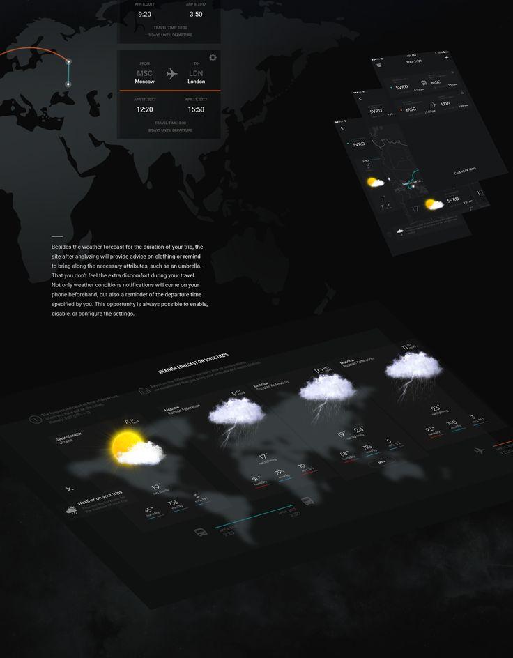 Concept Weather Forecast #Be #behance #web #website #design #UI #UX #site #webdesign #website #weather #weatherforecast #desktop #tablet