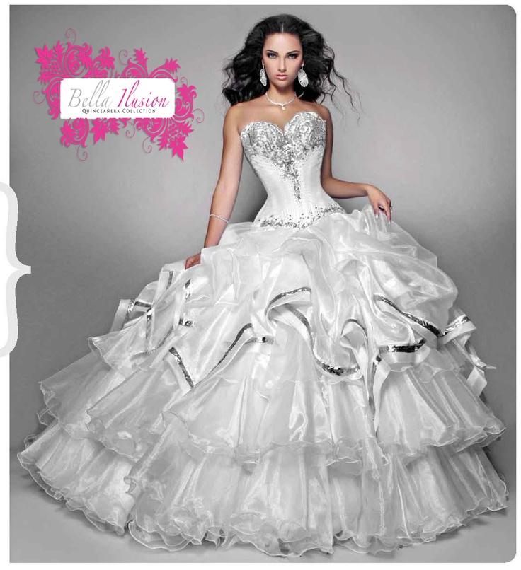 White Poofy Prom Dresses White Poofy Prom Dress...