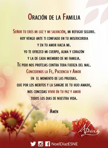 α JESUS NUESTRO SALVADOR Ω: Oración por la familia, Concédenos Señor vivir en ...