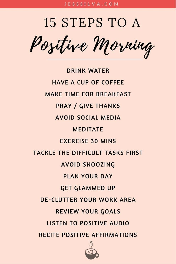 15 Steps to a Positive Morning – Start Your Day Right!