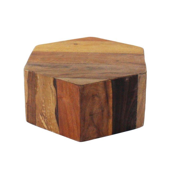 Hex Wood Stool   Short | Dotandbo.com Home Design Ideas