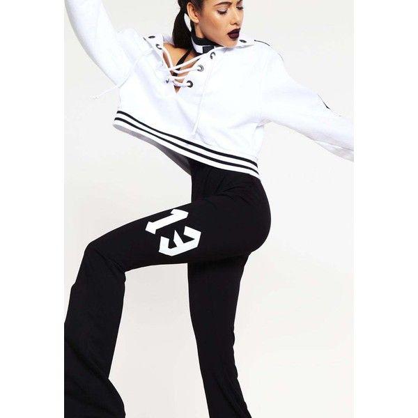Fenty PUMA by Rihanna Jumpsuit black/white ❤ liked on Polyvore featuring jumpsuits, puma jumpsuit, black white jumpsuit, white and black jumpsuit, jump suit and black and white jumpsuit